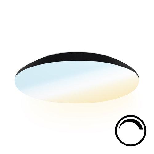 Lightexpert LED Plafondlamp - Dimbaar - 2600Lumen  - IP65 - 25W - Lichtkleur instelbaar - Zwart