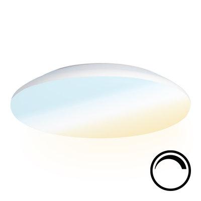 LED Plafondlamp - Dimbaar - 2600 Lumen  -  IP65 - 25W - Lichtkleur instelbaar - Chroom