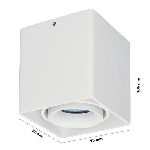 Lightexpert LED Opbouwspot - 5W - 2700K - IP20 - Kantelbaar - Dimbaar - Wit