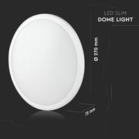 Lightexpert LED Plafondlamp - 12W - 1440 Lumen - IP65 - 6400K  - Wit