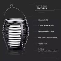Lightexpert LED Solarlamp Tuinfakkel XL - 2200K - IP44 - Met Vlammeneffect