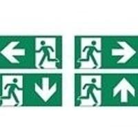 Lightexpert Onderhangende plaat - incl. pictogrammen