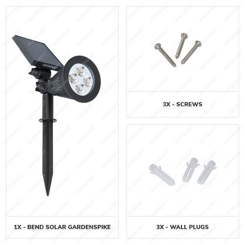 Lightexpert LED Solar Tuinspot - 200 Lumen - 3000K - IP65  - 2 Jaar Garantie