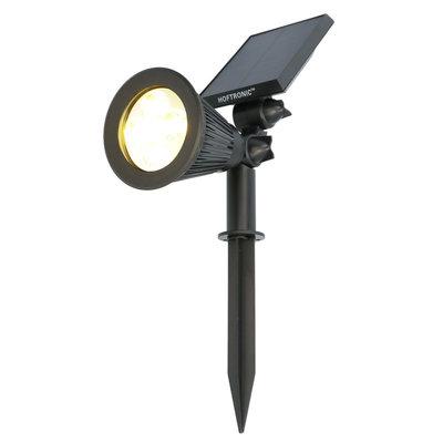 LED Solar Tuinspot -  300 Lumen - 3000K - IP65  - Met Bewegingssensor