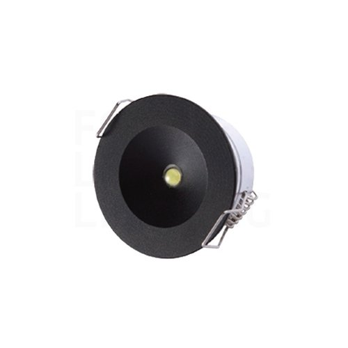 Lightexpert Zwart Afdekring - Eye Noodverlichting