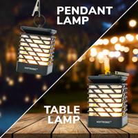 Lightexpert LED Solar Tafellamp - Met Vlammeneffect - Windlicht - IP65