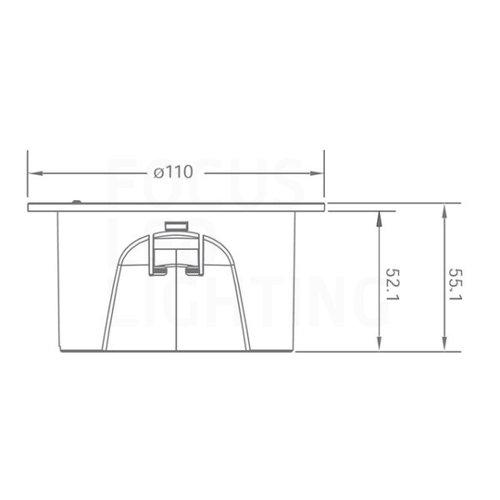 Lightexpert LED Anti Paniekverlichting - Inbouw - 3W