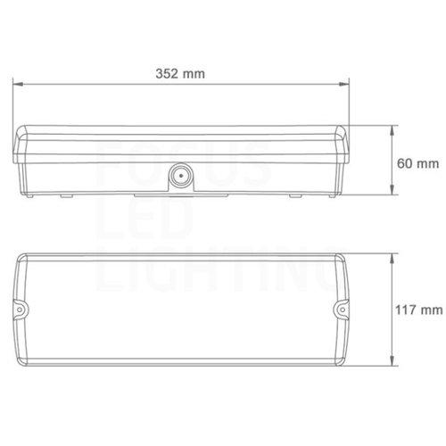 Lightexpert LED Noodverlichting Opbouw - incl. accu en testknop - IP65 - 3W - 24/48V