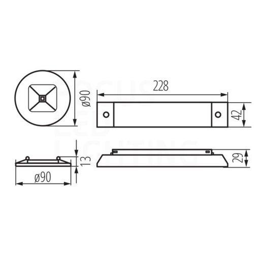 Lightexpert Ontec C - LED Anti Paniek Verlichting - Inbouw - 2W