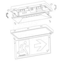 Lightexpert Onderhangend bord incl. pictogrammen - Ontec S