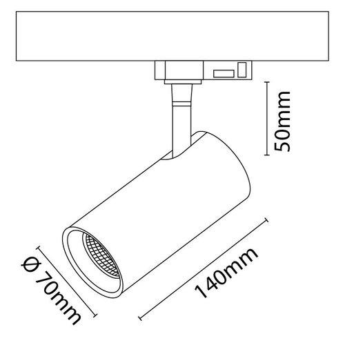 Lightexpert LED 3-Fase Railspots - 10W - Zwart