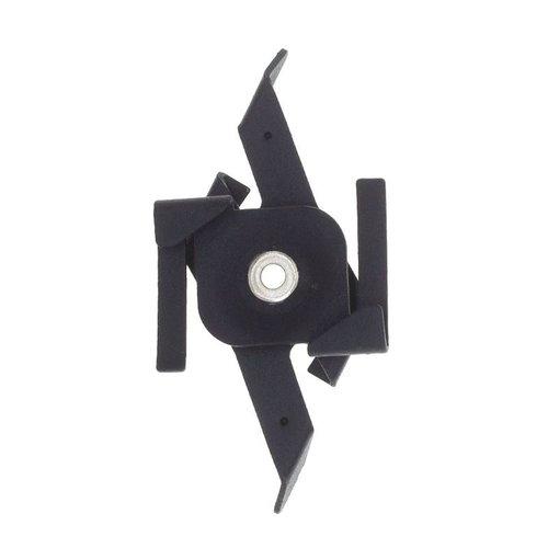 Lightexpert Pendelclip 3-Fase Rail - Zwart