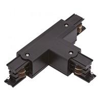 Lightexpert T-Vorm Connector Left-2    3-Fase Rails - Zwart