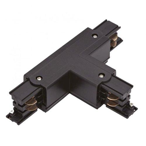Lightexpert T-Vorm Connector Left-1 | 3-Fase Rails - Zwart