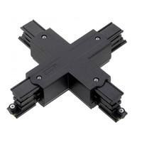 Lightexpert X-Vorm Connector 3-Fase Rails - Zwart