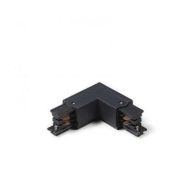 L-Vorm Connector Outside 3-Fase Rails - Zwart