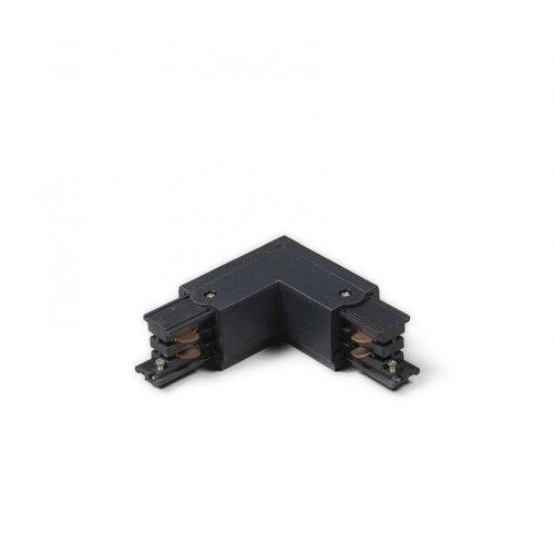 Lightexpert L-Vorm Connector Outside 3-Fase Rails - Zwart