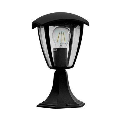 LED Tuinlantaarn  Vierkant - IP44 - E27 - Zwart Aluminium