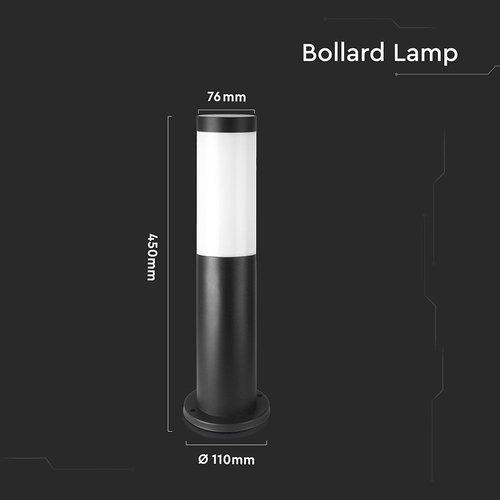 Lightexpert LED Sokkellamp Dally S - E27 Fitting - IP44 - 45cm - Zwart