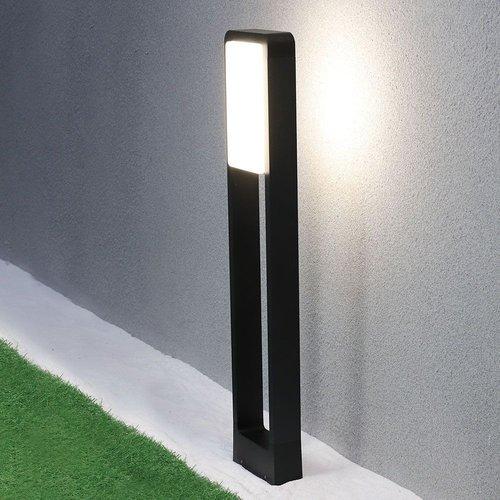 Lightexpert LED Sokkellamp Carol - 10W - 3000K - IP65 - 80cm - Zwart