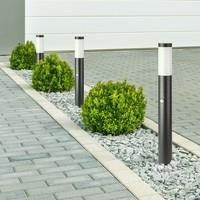 Lightexpert LED Sokkellamp Dally L Incl. Bewegingssensor - E27 Fitting - IP44 - 80cm - Zwart