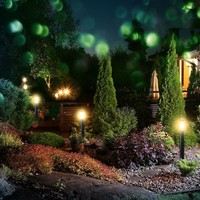 Lightexpert LED Sokkellamp Dally L - E27 Fitting - IP44 - 80cm - Zwart
