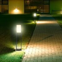Lightexpert LED Sokkellamp Carol - 10W - 4000K - IP65 - 80cm - Zwart