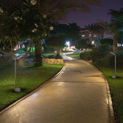 Lightexpert LED Sokkellamp Sally - 7W - 4000K - IP65 - 80cm - Antraciet