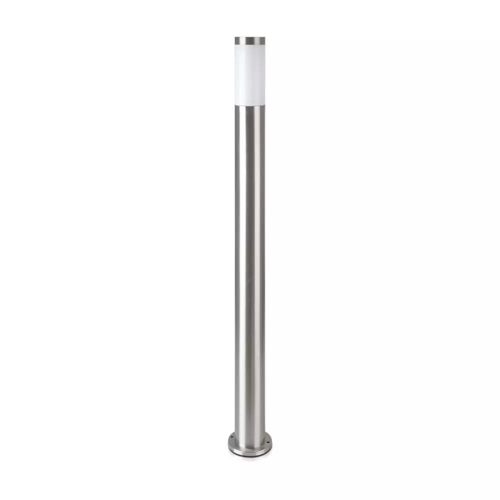 Lightexpert LED Sokkellamp Dally XL - E27 Fitting - IP44 - 110cm - RVS