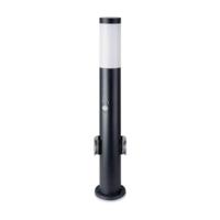 Lightexpert LED Sokkellamp Dally M Incl. Bewegingssensor en 2 Stopcontacten - E27 Fitting - IP44  - 60cm - Zwart