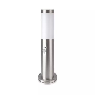 LED Sokkellamp Dally S Incl. Bewegingssensor - E27 Fitting - IP44 - 45cm - RVS