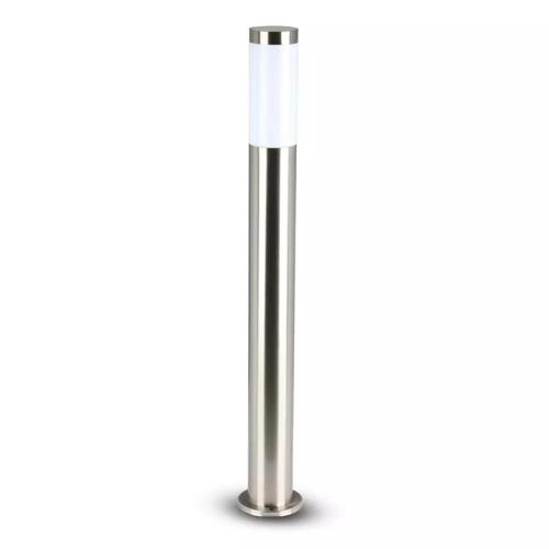 Lightexpert LED Sokkellamp Dally L - E27 Fitting - IP44 - 80cm - RVS