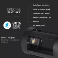 Lightexpert LED Sokkellamp Labo - 10W - 3000K - IP65 - 25cm - Zwart