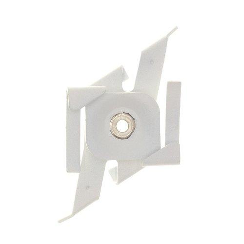 Lightexpert Pendelclip 3-Fase Rail - Wit