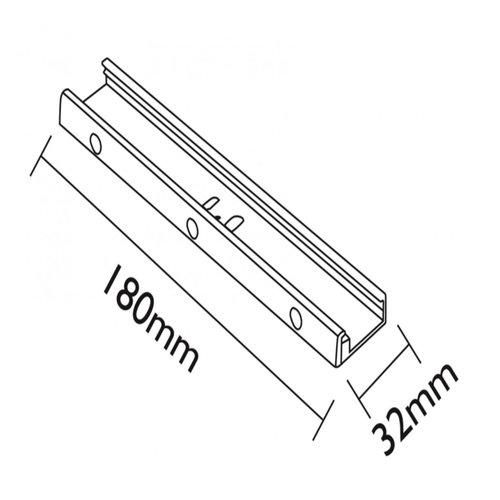 Lightexpert Ophangsysteem 18 cm - Wit