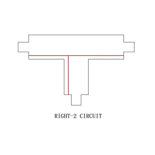 Lightexpert T-Vorm Connector Right-2  |  3-Fase Rails - Wit