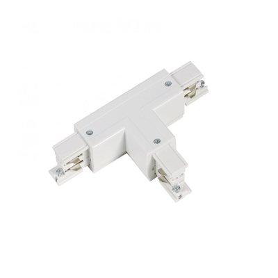 T-Vorm Connector Left-1 | 3-Fase Rails - Wit