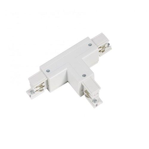 Lightexpert T-Vorm Connector Left-1   3-Fase Rails - Wit