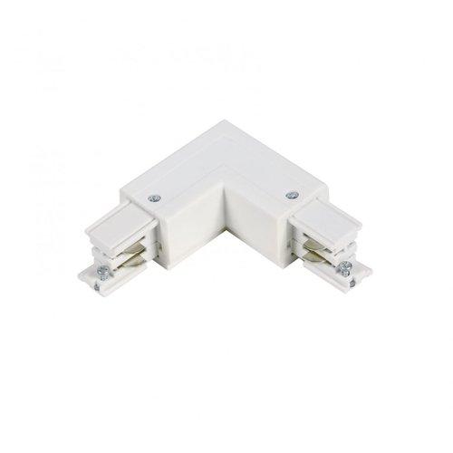 Lightexpert L-Vorm Connector Inside   3-Fase Rails - Wit
