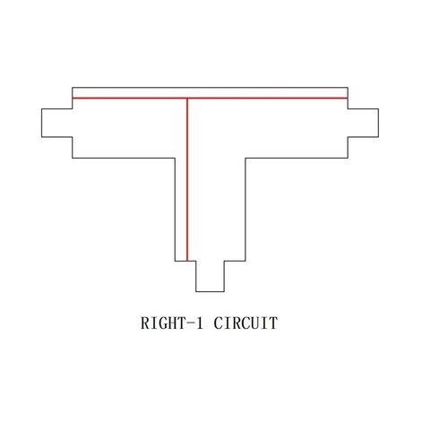Lightexpert T-Vorm Connector Right-1 | 3-Fase Rails - Wit
