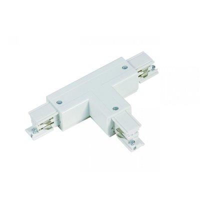 T-Vorm Connector Right-1 | 3-Fase Rails - Wit