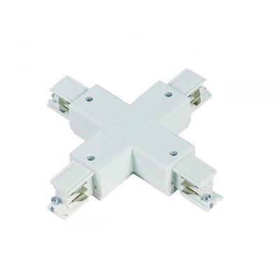 X-Vorm Connector 3-Fase Rails - Wit