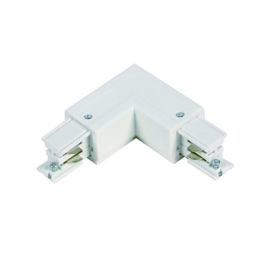 L-Vorm Connector Outside 3-Fase Rails - Wit