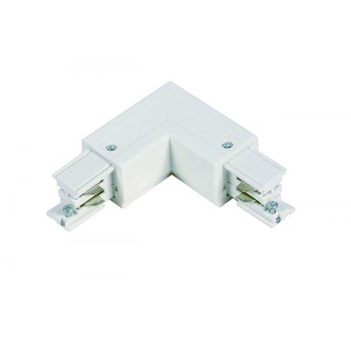 Lightexpert L-Vorm Connector Outside 3-Fase Rails - Wit