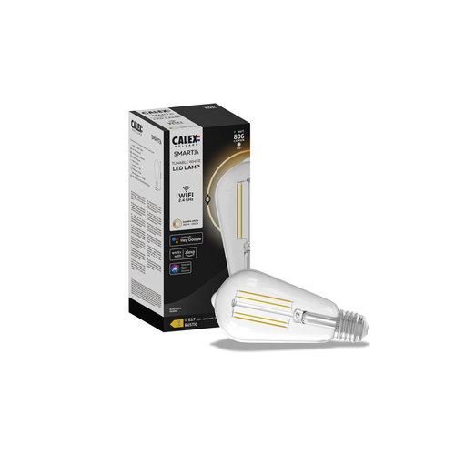 Calex Calex Smart LED Filament Clear Rustic-lamp 7W