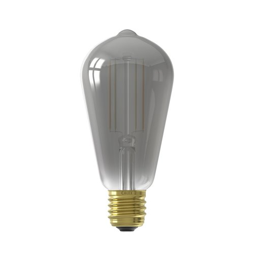 Calex Calex Smart Lamp Titanium - E27 - 7W - 400 Lumen - 1800K