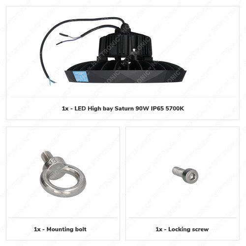 Lightexpert LED High Bay 110W - 120° - 190lm/W - 5700K - IP65 - Dimbaar - 5 Jaar Garantie