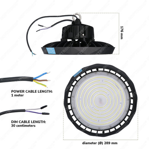 Lightexpert LED High Bay 200W - 120° - 190lm/W - 5700K - IP65 - Dimbaar - 5 Jaar Garantie