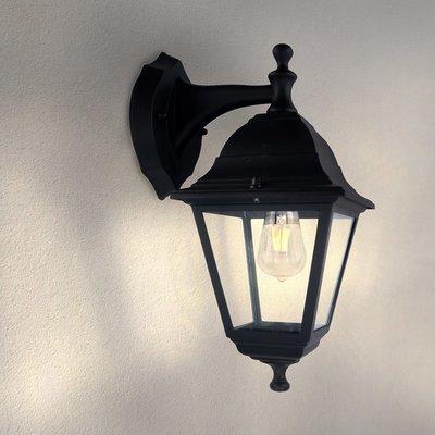 Klassieke Wandlamp Buiten Vela S - Zwart - E27