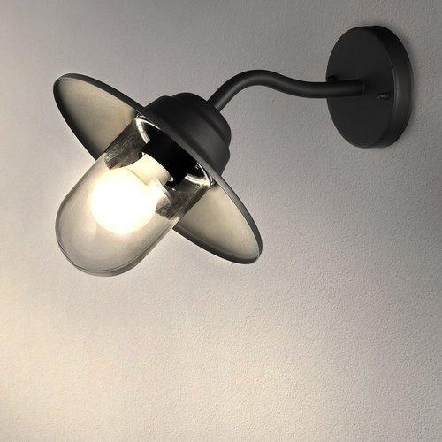 Ledvion LED Wandlamp Virgo - Zwart - E27